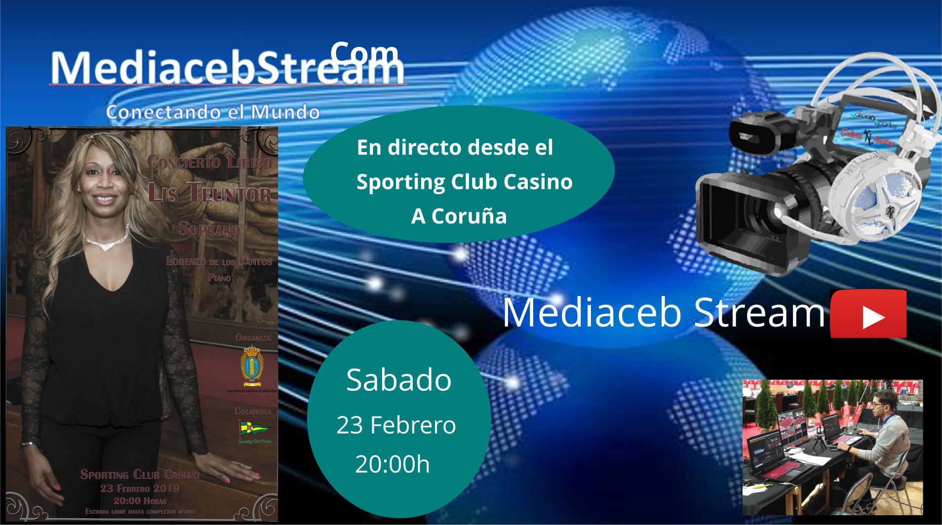 Hoy Sabado emitiremos en directo el Concierto Lirico desde el Sporting Club Casino de A Coruña a las 20.00 h , no te lo pierdas.