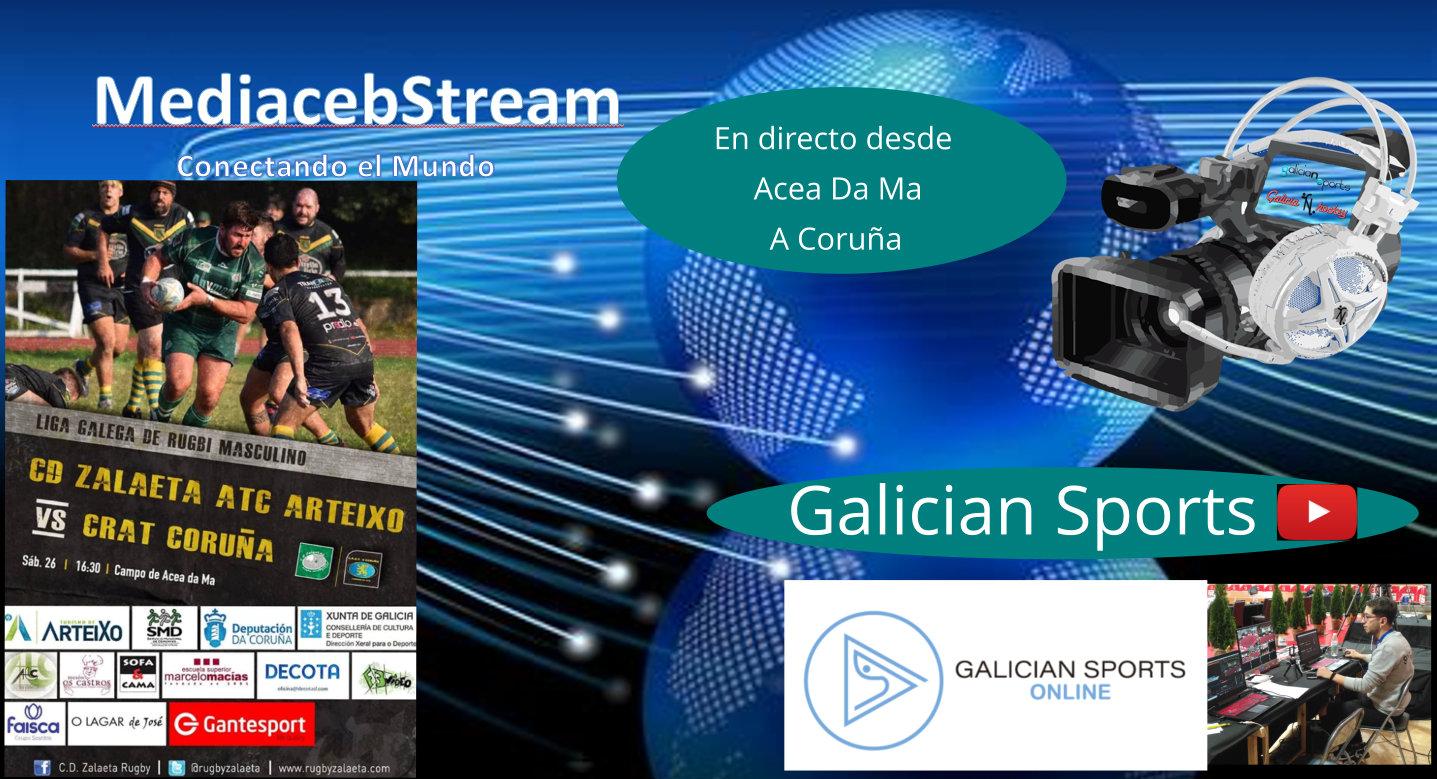 Rugby liga Gallega Masculina : C.D. Zalaeta ATC Arteixo – CRAT Coruña