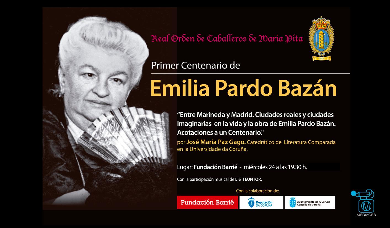 Homenaje a Emilia Pardo Bazán por la Real Orden de Caballeros de María Pita